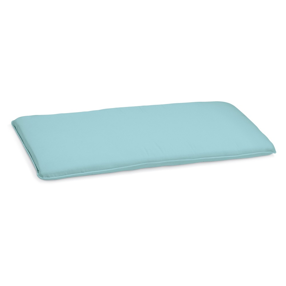 Sunbrella Outdoor Cushion for 48 Oxford Backless Patio Bench - Mineral Blue Sunbrella Fabric - Oxford Garden