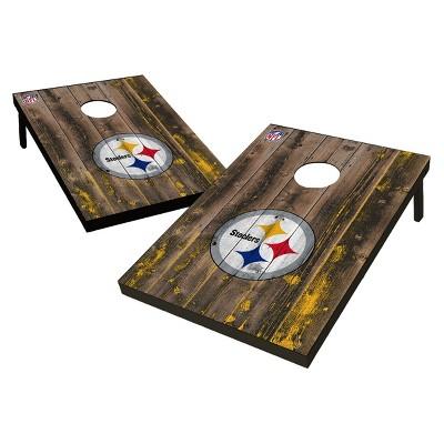 NFL Pittsburgh Steelers Wild Sports 2'x3' Barnwood Bean Bag Toss