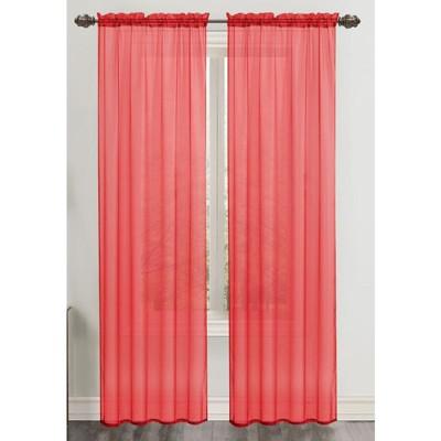 "Ramallah TradingCeline Sheer Rod Pocket Curtain Panel (55"" x 90"")"