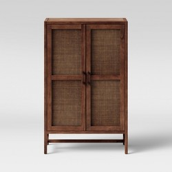 Warwick Wood & Rattan Library Cabinet - Threshold™