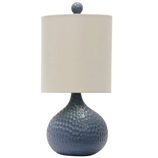 Ceramic Table Lamp Blue  - StyleCraft