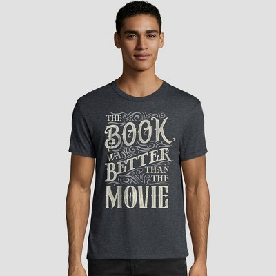 Hanes Men's Short Sleeve Graphic T-Shirt - Books & Quotes Collection