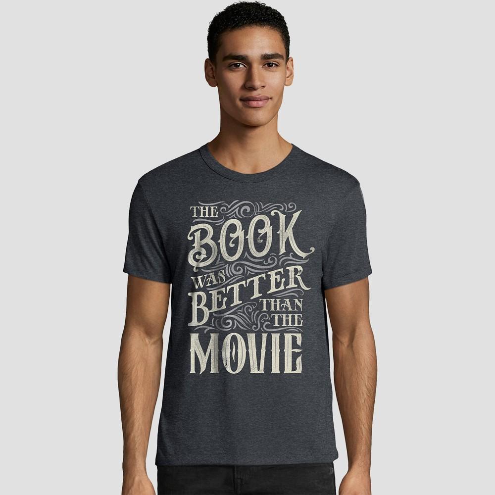 Hanes Men's Big & Tall Short Sleeve Graphic T-Shirt - Cast Iron 3XL