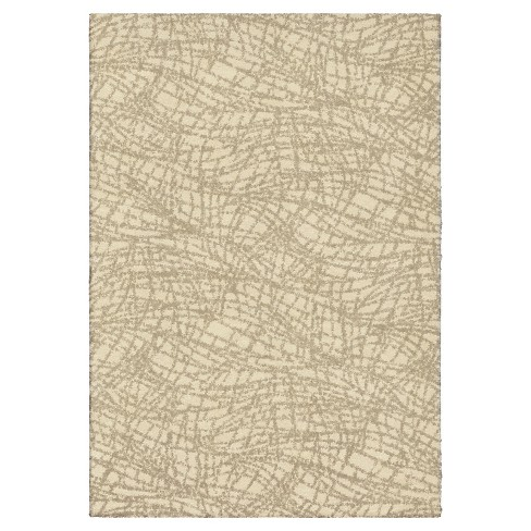 """Ivory Abstract Woven Area Rug - (5'3""""X7'6"""") - Orian - image 1 of 4"""
