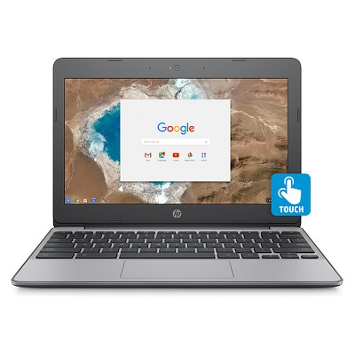 HP 11.6  Touchscreen Chromebook, 11+ Hour Battery, Only 2.62lbs, 2yr Google Cloud Storage 100GB (11-V032NR)