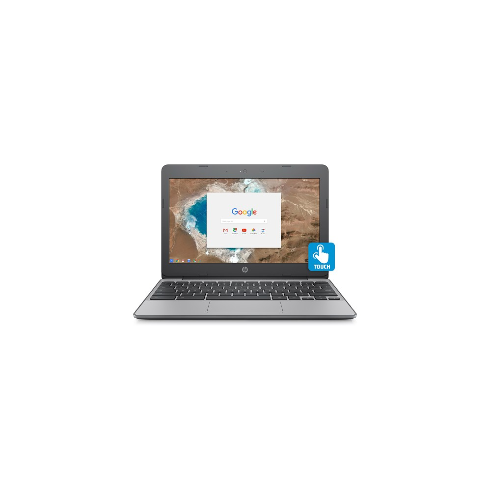 HP 11.6 Touchscreen Chromebook, 11+ Hour Battery, Only 2.62lbs, 2yr Google Cloud Storage 100GB (11-V032NR), Ash Gray Designed TO Move: Slim design and long battery life for attractive power and superb portability Chrome Operating System: Easy-to-use operating system designed for security and speed All Day Battery: Go all day without recharging with up to 11.5 hours battery life HD Touchscreen: Intuitive touch control with 178° wide-viewing angles 100 GB Google Drive: Conveniently store up to 100 GB of content for 2 years with Google Drive access Google Play Store: Access millions of apps to bring the best of your mobile Android experience to your Chromebook Slim and Portable: Ultra light at 2.62lbs so you can take it anywhere Also Includes: HD display, dual-core Intel Celeron processors, front-facing webcam, island-style keyboard, Hdmi/Bluetooth/Usb/audio port, multi-format card reader Lean, mean, amazing machine. This Chromebook makes working online effortless. It's easy to use, fun to show off, and perfectly portable with power to last all day. The slim design and 11 hours and 30 minutes of battery life give you attractive power with superb portability. Chromebooks run Chrome OS for a fast, simple, secure computing experience, with access to all your Google Drive content. With an 11.6-inch diagonal HD Corning Gorilla Glass touchscreen, you can comfortably enjoy the view from any angle. Size: 11.6. Color: Ash Gray.