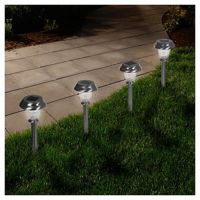 LED Solar Classic Glass Pathway Lights   Set Of 6   Pure Garden