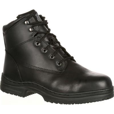 Men's SlipGrips Steel Toe Slip-Resistant Work Boot