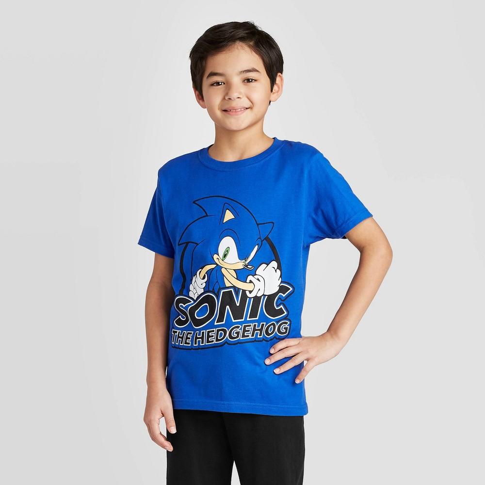 Image of petiteBoys' Short Sleeve Sonic Royal T-Shirt - Blue L, Boy's, Size: Large
