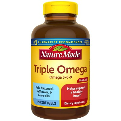 Nature Made Triple Omega 3 - 6 - 9 Softgels - 150ct