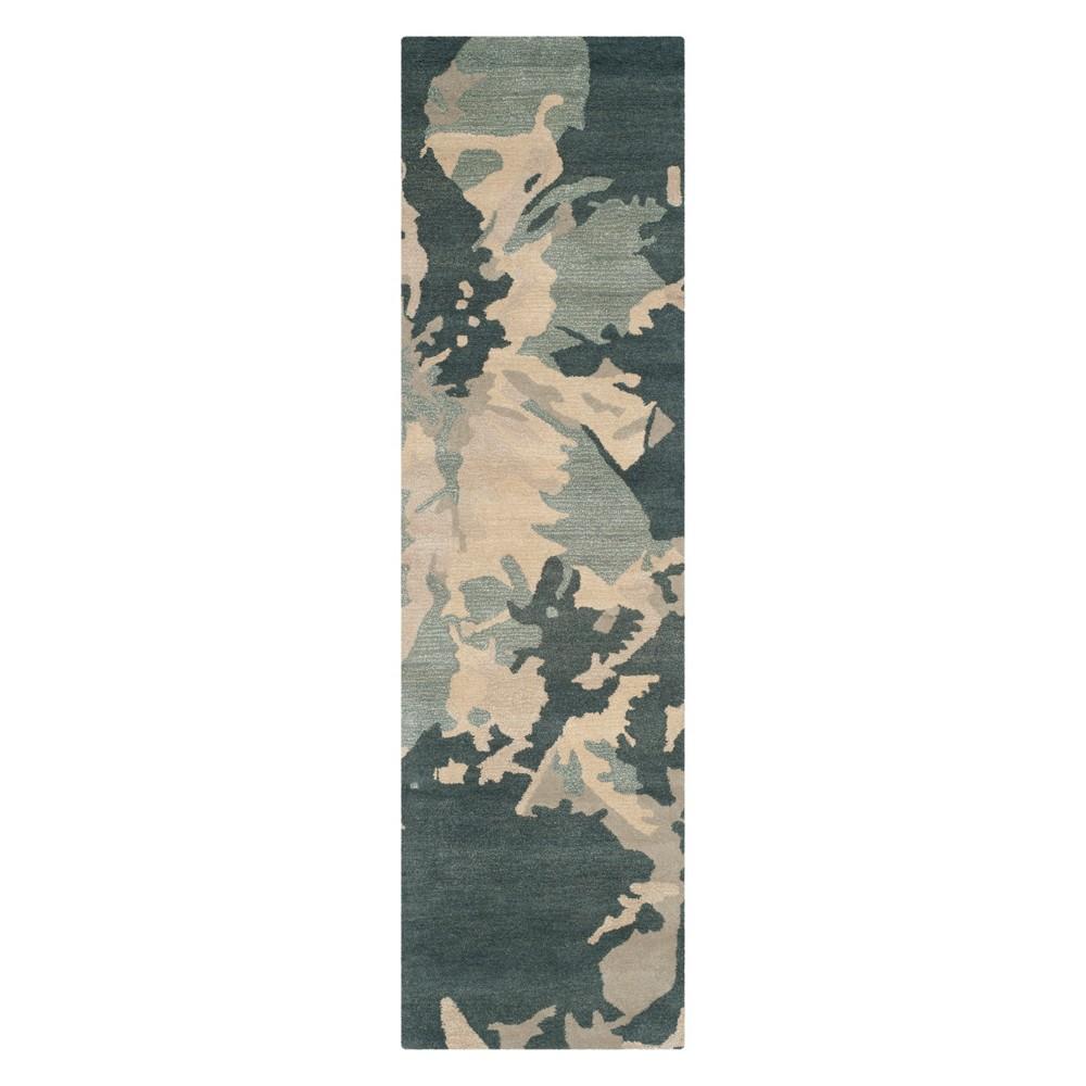 23X10 Camouflage Runner Steel Blue - Safavieh Cheap