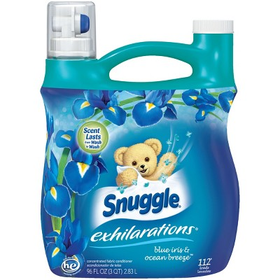 Snuggle Exhilarations Blue Iris/Bamboo Silk Aqua Liquid Fabric Softener, 96oz