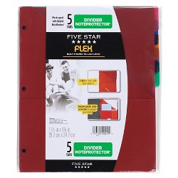 Five Star Flex NoteProtector Binder Insert 5 Tabs - Multicolor