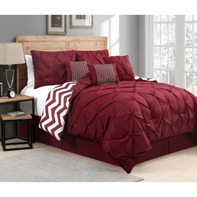 Venice Pinch Pleat 7pc Comforter Set - Geneva Home Fashion