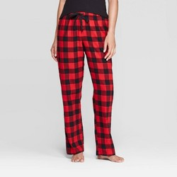 Women's Buffalo Plaid Perfectly Cozy Flannel Pajama Pants - Stars Above™ Red