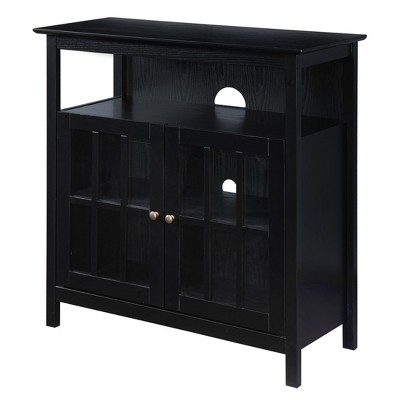 """Big Sur Highboy TV Stand for TVs up to 50"""" Black - Breighton Home"""