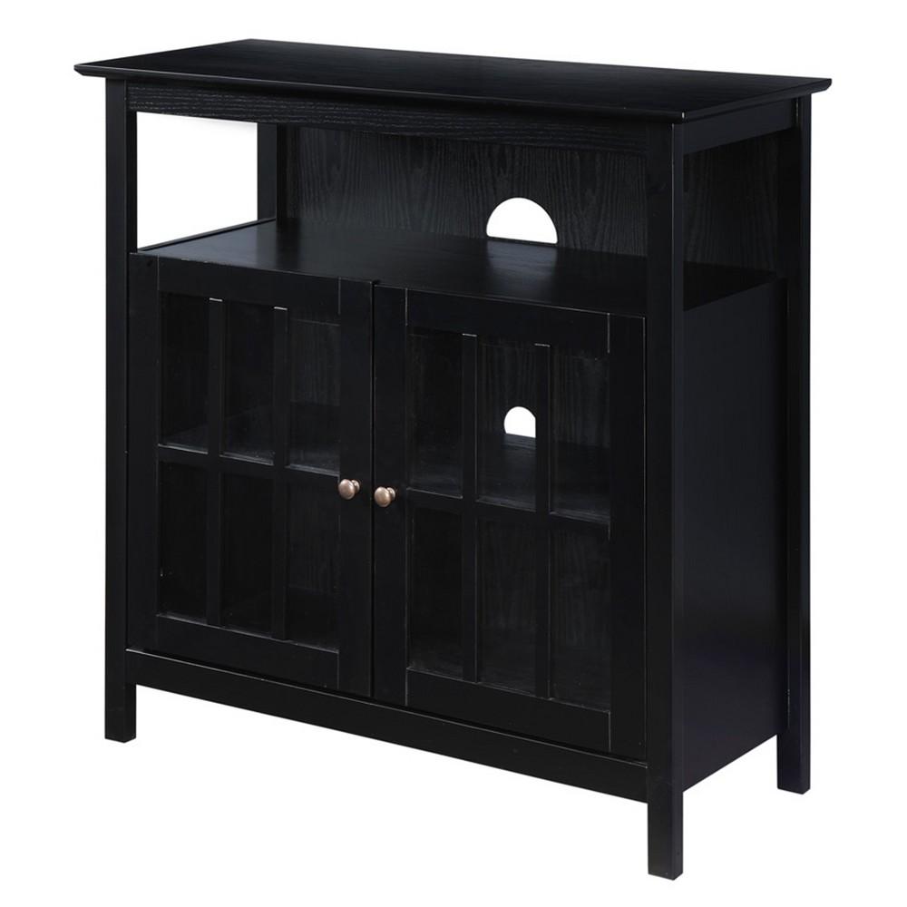 Big Sur Highboy TV Stand Black - Johar Furniture