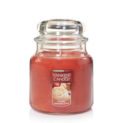 14.5oz Glass Jar Sugar Cinnamon Apple Candle - Yankee Candle
