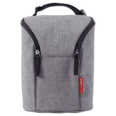 Skip Hop GRAB & GO Double Bottle Bag - Heather Gray