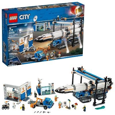 LEGO City Space Rocket Assembly & Transport Model Rocket Building Set with Toy Crane 60229