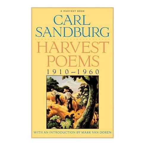 Harvest Poems - (Harvest Book) by  Carl Sandburg (Paperback) - image 1 of 1