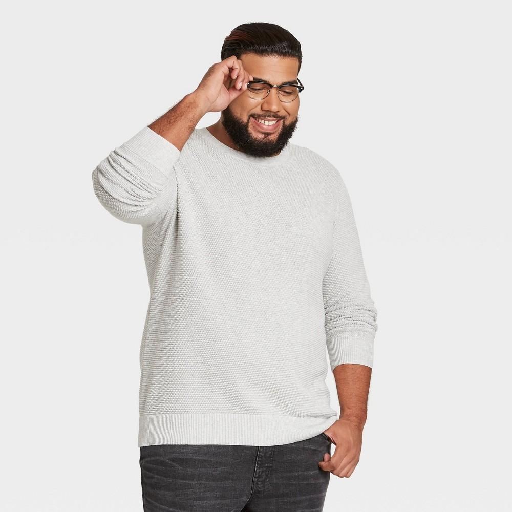 Men 39 S Tall Standard Fit Crew Neck Pullover Sweater Goodfellow 38 Co 8482 Light Gray Xlt