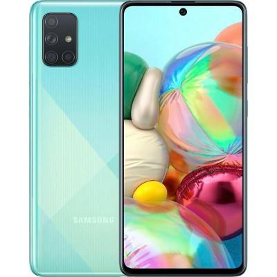 Samsung Galaxy A71 128GB ROM 6GB RAM A715F/DS Dual Sim GSM Unlocked International Model Smartphone w/ BONUS 64GB SD Card and Case Included