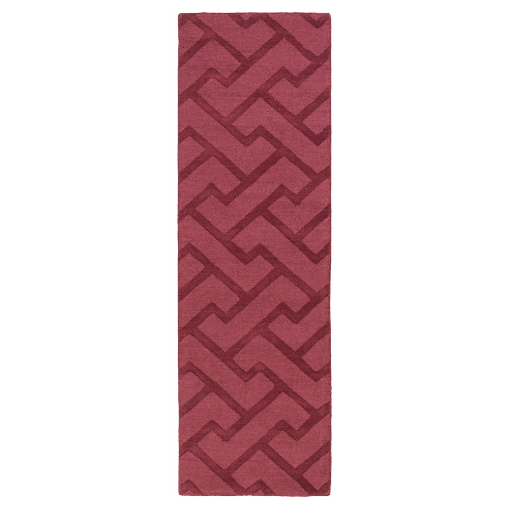 Eggplant Abstract Loomed Runner - (2'6X8' Runner) - Surya