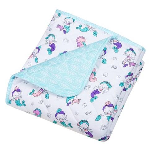 Trend Lab Reversible Baby Quilt - Mermaids - image 1 of 3