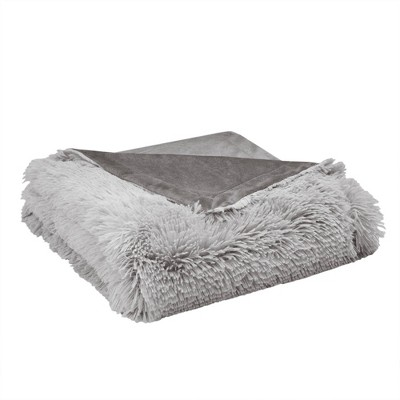 """50""""x60"""" Cleo Ombre Print Shaggy Faux Fur Throw Blanket - CosmoLiving"""