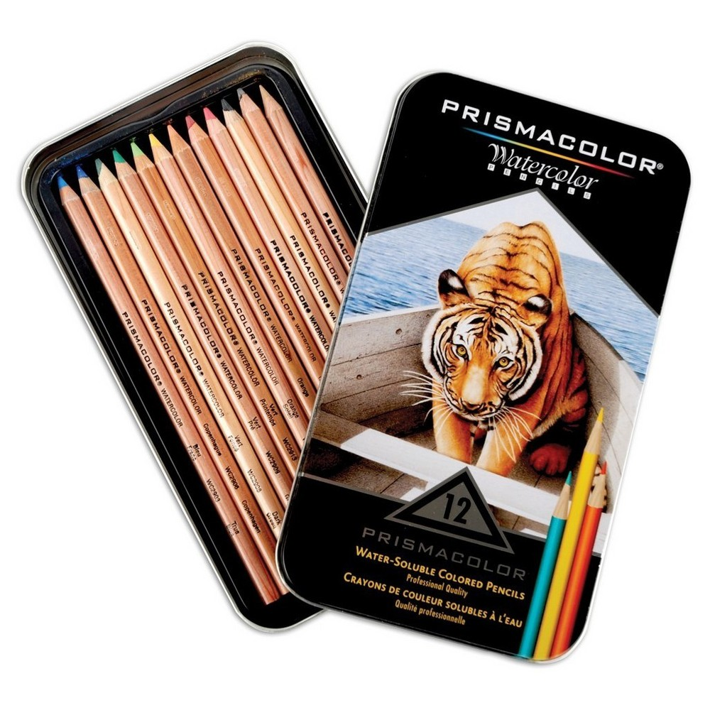 "Image of ""12ct Prismacolor Watercolor Pencils-Assorted Colors 8""""x4.5"""""""