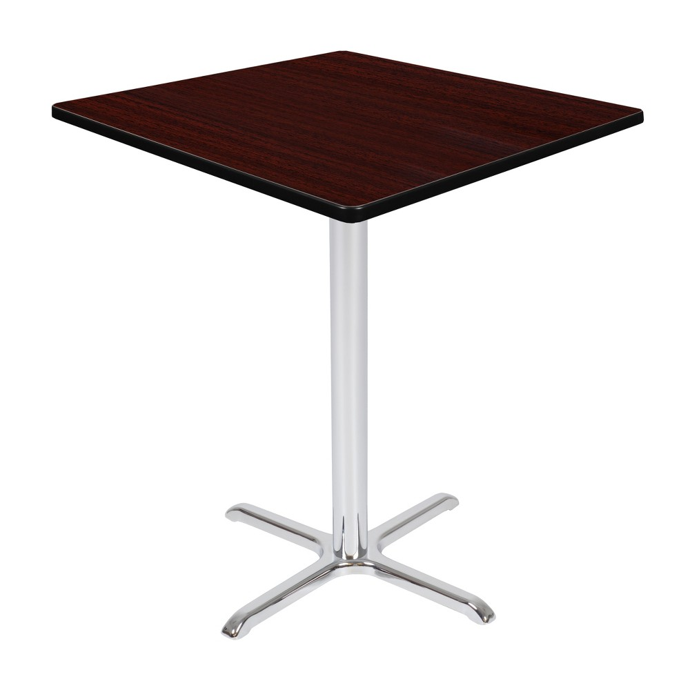 36 Via Cafe High Square X - Base Table Mahogany/Chrome (Brown/Grey) - Regency