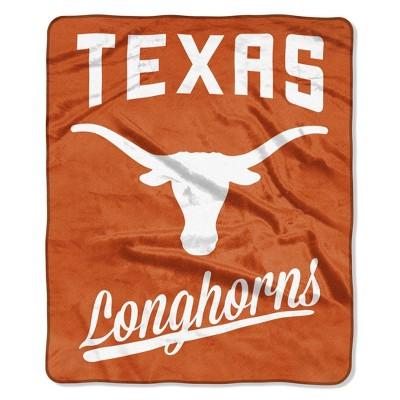 NCAA Texas Longhorns Alumni Raschel Throw Blanket