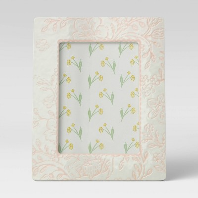 "5"" x 7"" Ceramic Frame White - Opalhouse™"