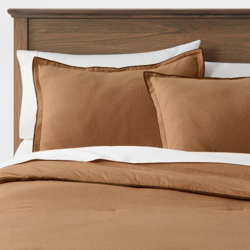 Flannel Comforter & Sham Set - Threshold&#153 - image 1 of 4