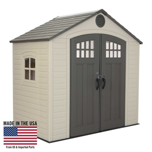 Outdoor Storage Shed 8' x 5' - Desert Sand - Lifetime - Outdoor Storage Shed 8' X 5' - Desert Sand - Lifetime : Target