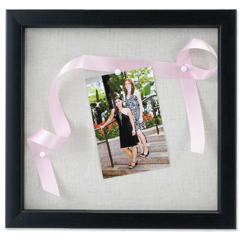 12x12 Linen Inner Display Shadow Box Frame Black Lawrence Frames