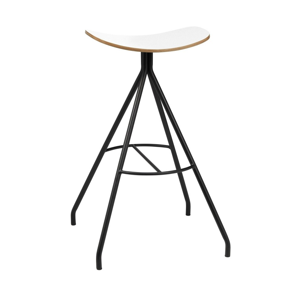 Ryder Barstool White - Olio Designs