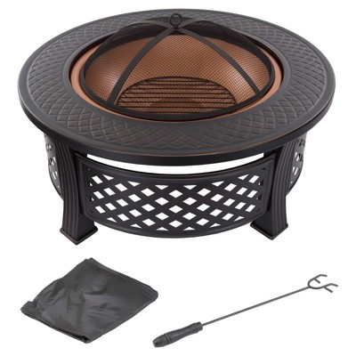 Fire Pit Set Wood Burning Pit 32  Round - Pure Garden