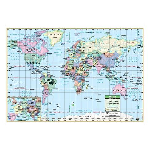"""Kappa Map World Wall Map 40"""" x 28"""" - image 1 of 1"""