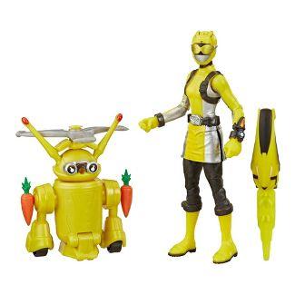 Power Rangers Beast Morphers Yellow Ranger and Morphin Jax Beastbot