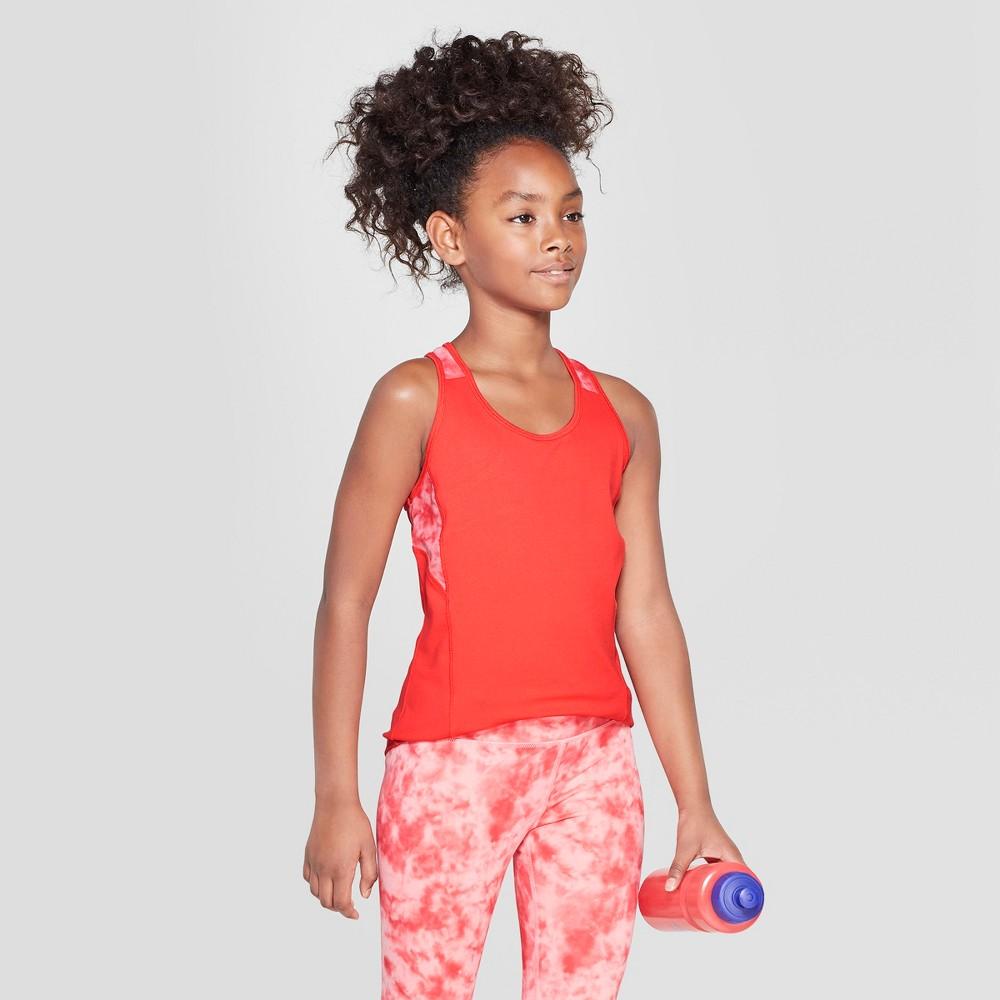 Umbro Girls' Tie Dye Mesh Back Performance Tank - Hibiscus Pink L
