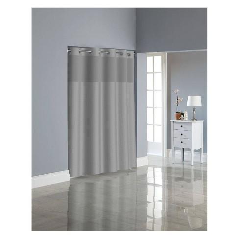 Herringbone Shower Curtain with Liner - Hookless - image 1 of 4