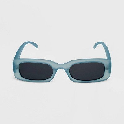 Women's Marble Print Rectangle Sunglasses - Wild Fable™