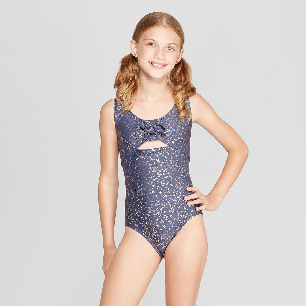 Girls' Stars One Piece Swimsuit - art class Navy XS, Blue