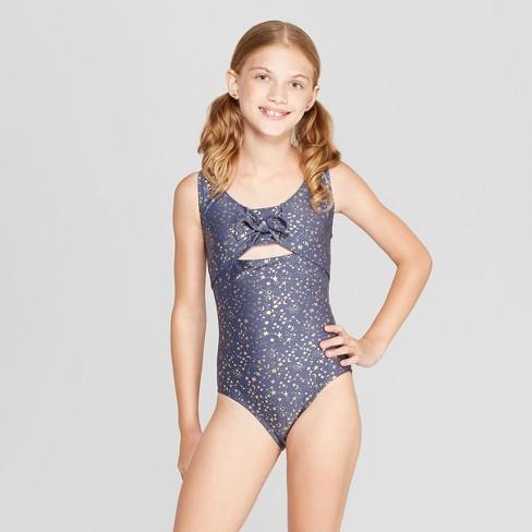 71d2083f2218b Girls  Stars One Piece Swimsuit - Art Class™ Navy   Target