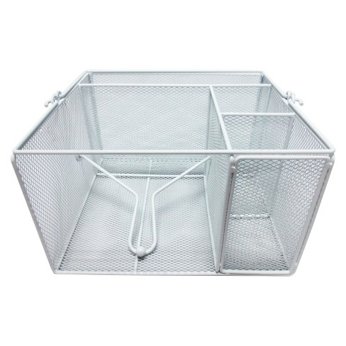Steel Mesh Dinnerware Caddy - White - image 1 of 1