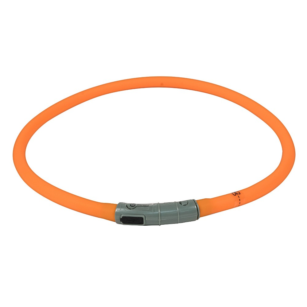 Bow & Arrow Rechargeable Light Up Dog Collar Band - Orange