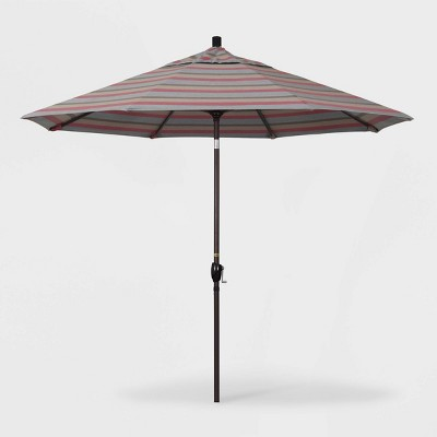 9' Pacific Trail Patio Umbrella Push Button Tilt Crank Lift Sunbrella - California Umbrella
