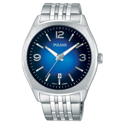 Men's Pulsar - Silver Tone with Blue Dial PS9487 - image 1 of 1